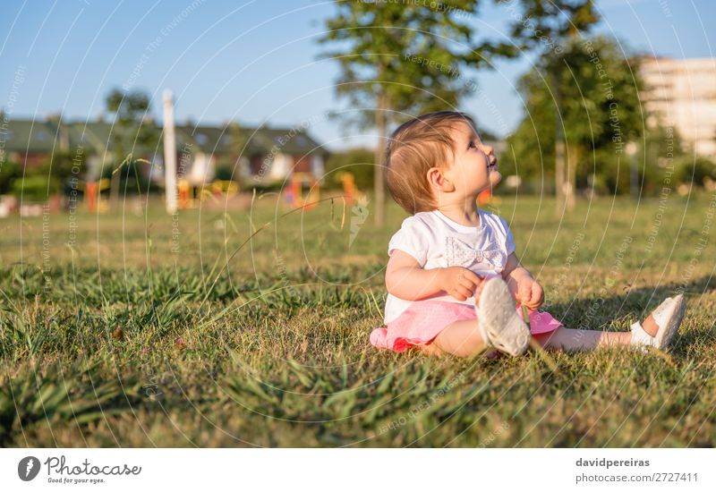 Kind Mensch Natur Sommer schön grün Baum Freude Lifestyle Liebe natürlich Wiese Glück Gras klein Garten