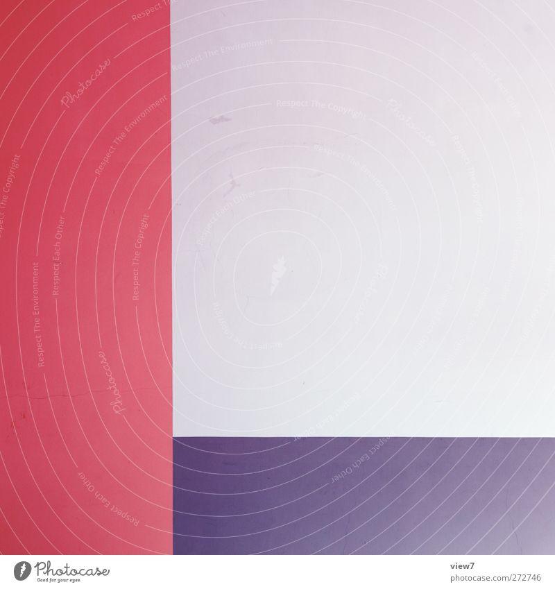L blau rot Farbe Stein Innenarchitektur Linie rosa Freizeit & Hobby Ordnung Platz Beton modern frisch authentisch ästhetisch Streifen