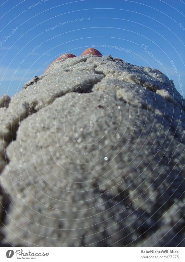 SandHand Hand Himmel Sonne Meer Sommer Strand Sand Ostsee Riss Plattform