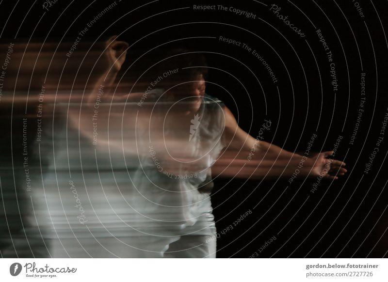 #Tanzkultur Tanzen Mensch 2 Künstler Theater Tanzveranstaltung Tänzer Bewegung außergewöhnlich fantastisch modern Erotik wild blau grau orange schwarz silber