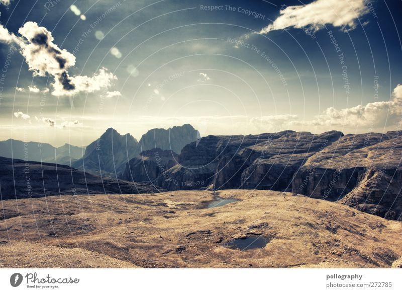 ... hinter den sieben Bergen ... (II) Himmel Natur blau grün Sommer Wolken Landschaft gelb Berge u. Gebirge grau Sand Stein braun Erde Felsen Abenteuer