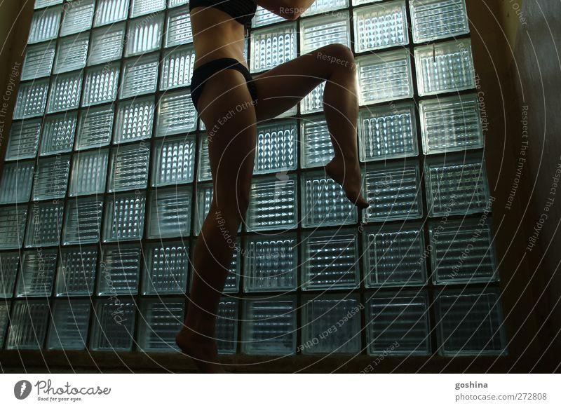 Tanz der Eleganz Mensch Jugendliche schön Erwachsene Fenster feminin Erotik nackt Beine Junge Frau Tanzen Körper Glas wild elegant 18-30 Jahre