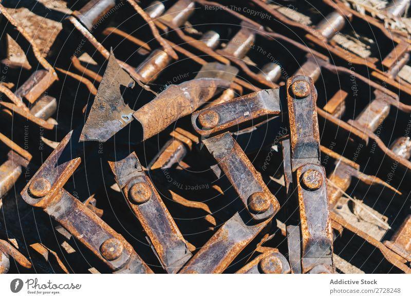 Rostige Stücke des Mechanismus Hintergrundbild Konsistenz Metall Stahl Industrie alt Konstruktion Ingenieurwesen Maschine Schrauben industriell Werkstatt