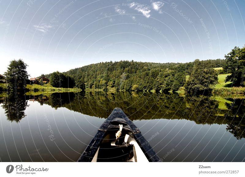 Captain Kuddl Ferien & Urlaub & Reisen Sommer Natur Landschaft Wasser Himmel Baum See Fluss Erholung Einsamkeit Freizeit & Hobby Idylle nachhaltig ruhig Umwelt