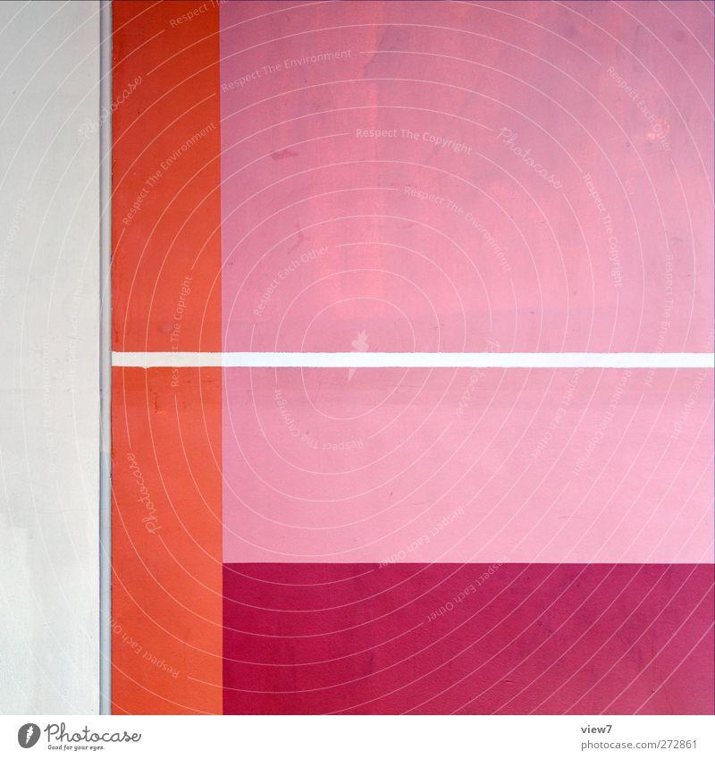 layer Renovieren einrichten Innenarchitektur Haus Mauer Wand Streifen authentisch einfach Fröhlichkeit frisch hell trendy modern neu retro rosa rot ästhetisch