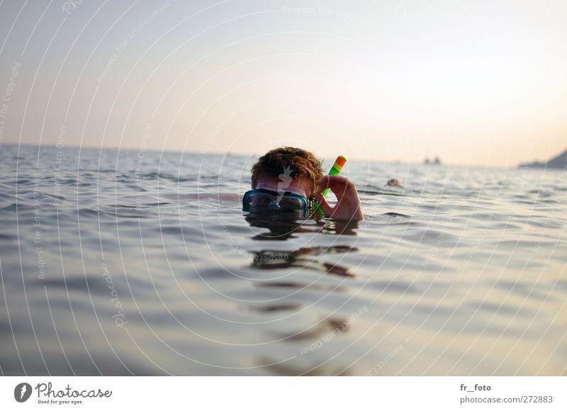 Côte d'Azur und tauchen Mensch Jugendliche Wasser Ferien & Urlaub & Reisen Hand Sommer Meer Erwachsene Kopf Horizont Junger Mann Schwimmen & Baden 18-30 Jahre