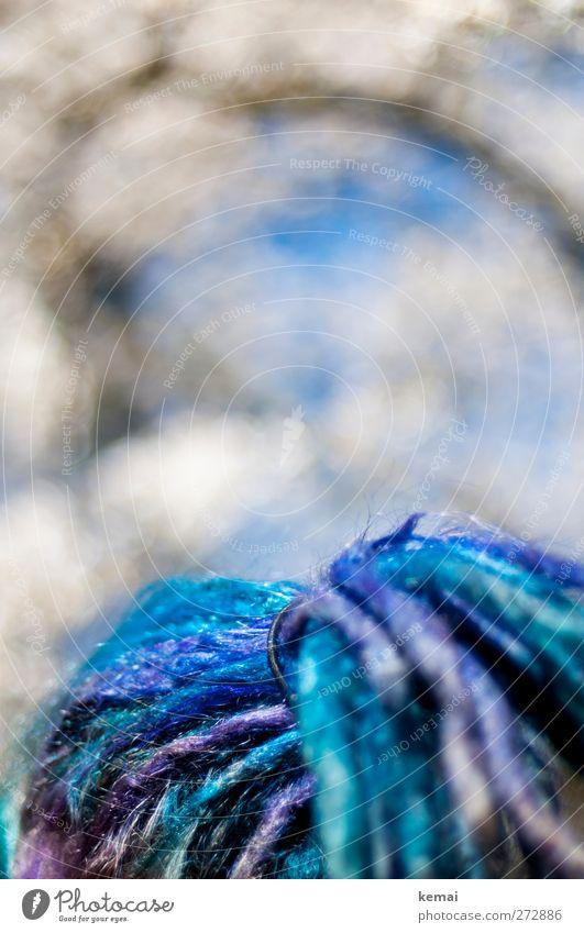 Hiddensee | In front of decency Mensch Jugendliche blau Erwachsene feminin Leben Haare & Frisuren Stil Junge Frau glänzend außergewöhnlich 18-30 Jahre verrückt Lifestyle violett Punk