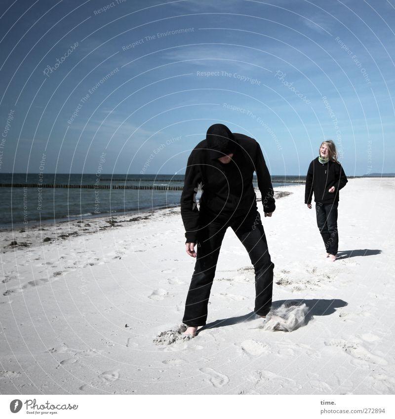Hiddensee | Dark Boys Acting Mensch Himmel Mann Jugendliche Wasser Strand Freude Wolken Erwachsene Umwelt Ferne Leben Bewegung Küste Sand Horizont
