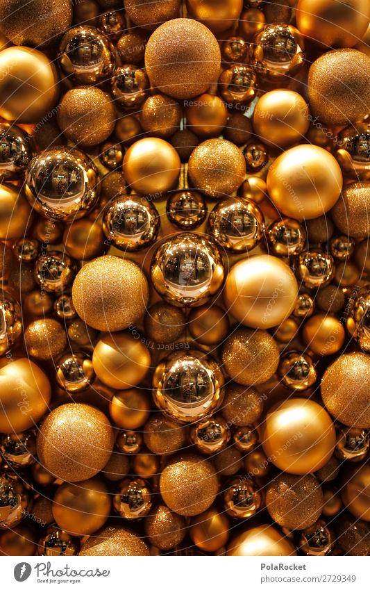 #A# Golden Balls Kunst ästhetisch Weihnachten & Advent Christbaumkugel Dekoration & Verzierung viele Kugel rund Baumschmuck Farbfoto mehrfarbig Innenaufnahme