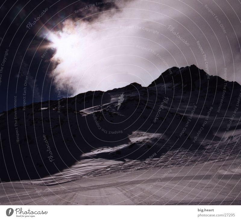 Winteralpen II Wolken Berge u. Gebirge Alpen Schnee Sonne
