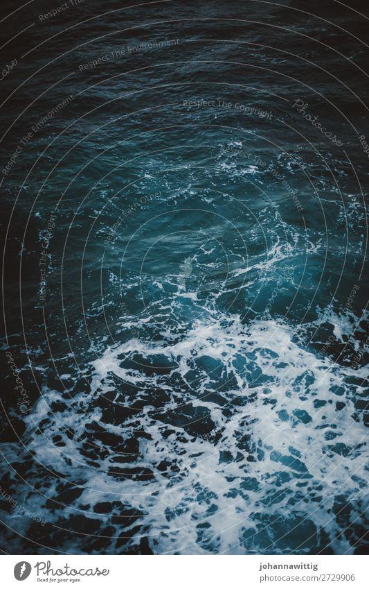Meer von oben Wasser Strukturen & Formen Klimawandel Schaum aufregend verloren weite Urlaub dunkel ungewiss
