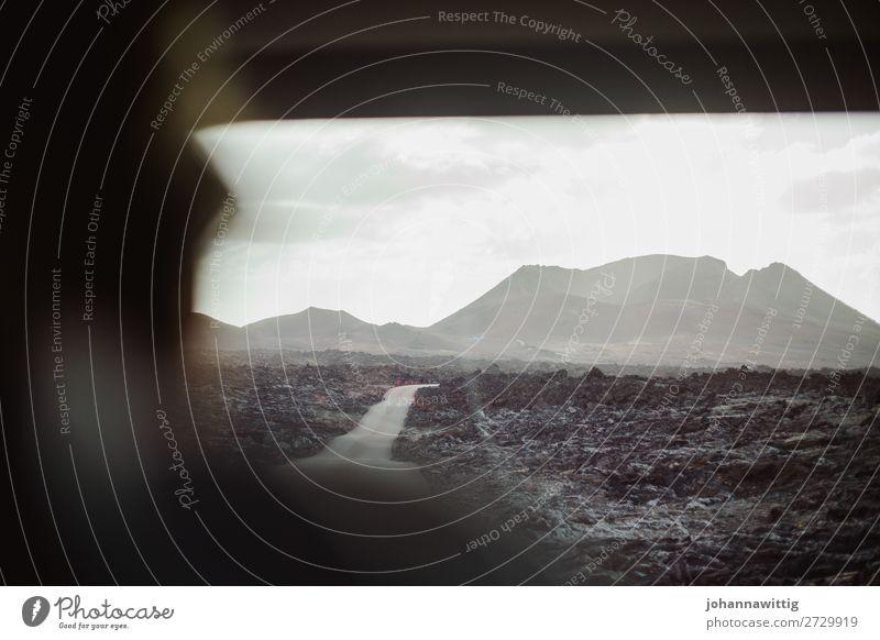 vulcano roadtrip II Ferien & Urlaub & Reisen Sommer Vulkan authentisch außergewöhnlich gigantisch Neugier Spanien Straße Wege & Pfade Ziel Barriere schmal Linie