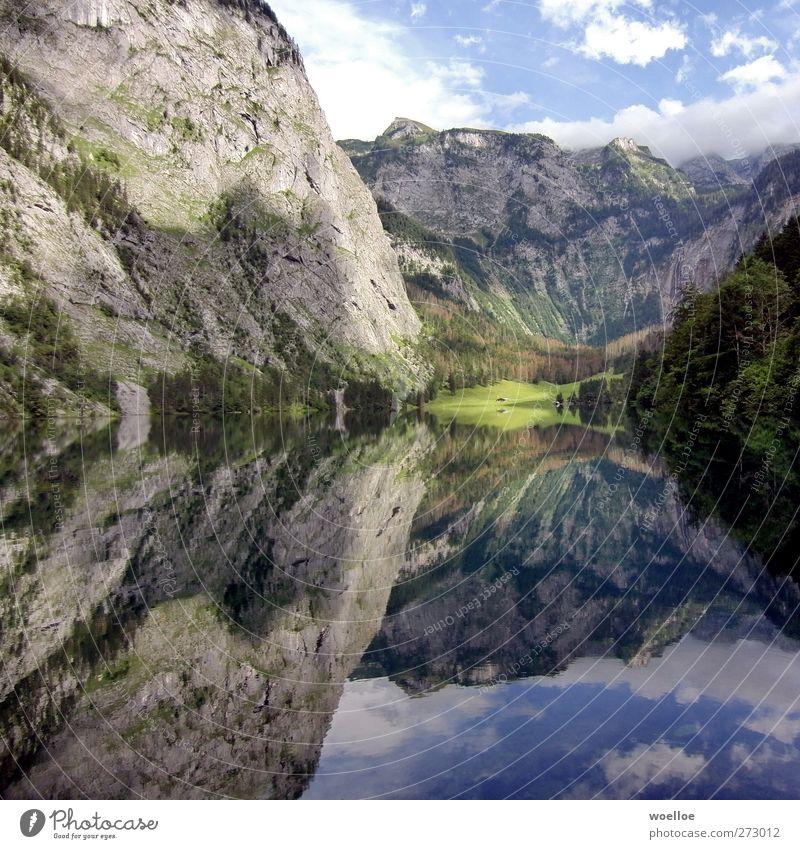 Spieglein Spieglein... Himmel Natur Ferien & Urlaub & Reisen blau grün Wasser Landschaft Ferne Berge u. Gebirge Umwelt grau See Felsen Idylle Schönes Wetter