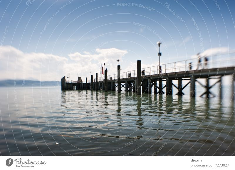 600 | Immer weiter geh´n Ferien & Urlaub & Reisen Ausflug Ferne Umwelt Natur Landschaft Wasser Himmel Wolken Schönes Wetter See Bodensee Steg Anlegestelle nass
