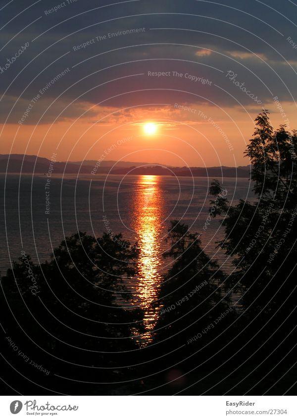 Sonnenuntergang Wasser See Vierwaldstätter See