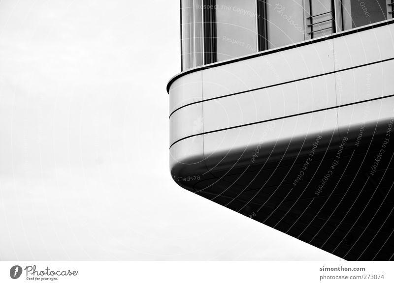 Gebäude Fassade Stil Duisburg Makler Wohnung Lebensraum dramatisch Froschperspektive grau hell einfach Modern Art Architektur Modernisierung modern Büroviertel