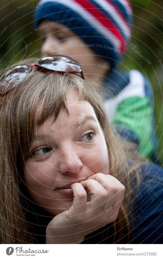 201 [Picknick im Wald] harmonisch Wohlgefühl Zufriedenheit Freizeit & Hobby Spielen Kinderspiel Ausflug Expedition Kindererziehung Junge Junge Frau Jugendliche