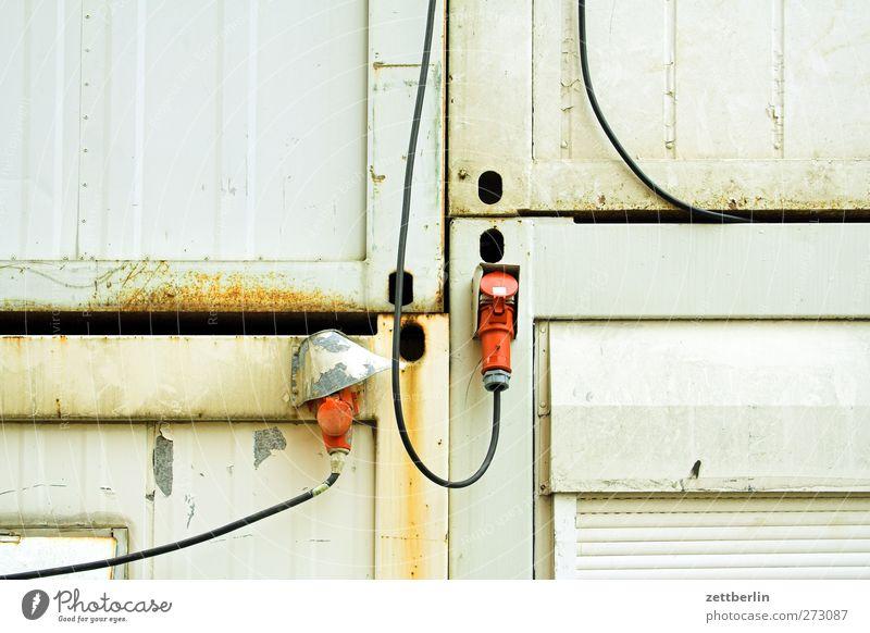 Container (verkabelt) Beruf Handwerker Arbeitsplatz Baustelle Wirtschaft Telekommunikation Mittelstand Arbeit & Erwerbstätigkeit bauen hell Stahlkabel Kabel