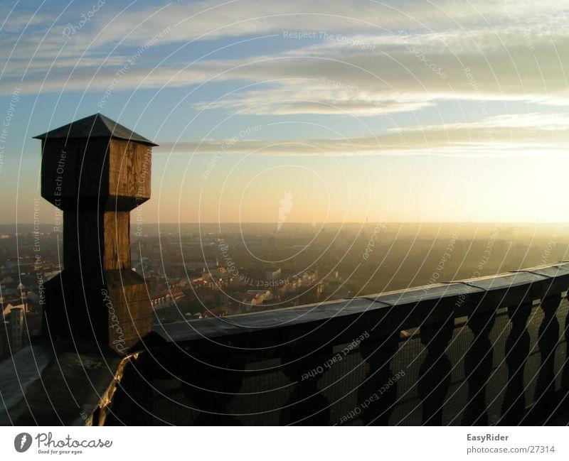 Turm-Zinne Himmel Ferne Architektur Aussicht Geländer Zinnen