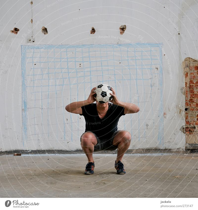 Panne Mensch Mann Erwachsene Sport Fußball maskulin Erfolg fangen Sportler Fußballplatz Torwart Sportstätten