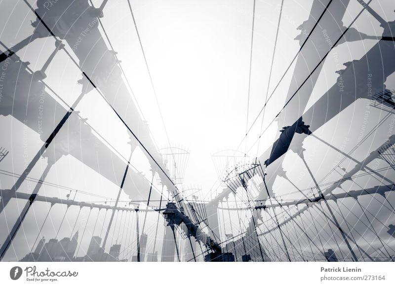 The High Road Stadt Skyline bevölkert Hochhaus Brücke Bauwerk Gebäude Architektur Verkehr Verkehrsmittel Verkehrswege Straße ästhetisch Stress New York City