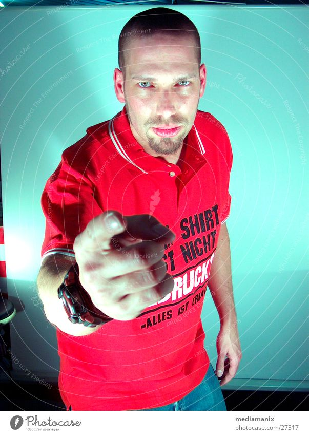 We want you! Hand Mann Finger maskulin zeigen Werbung Mensch