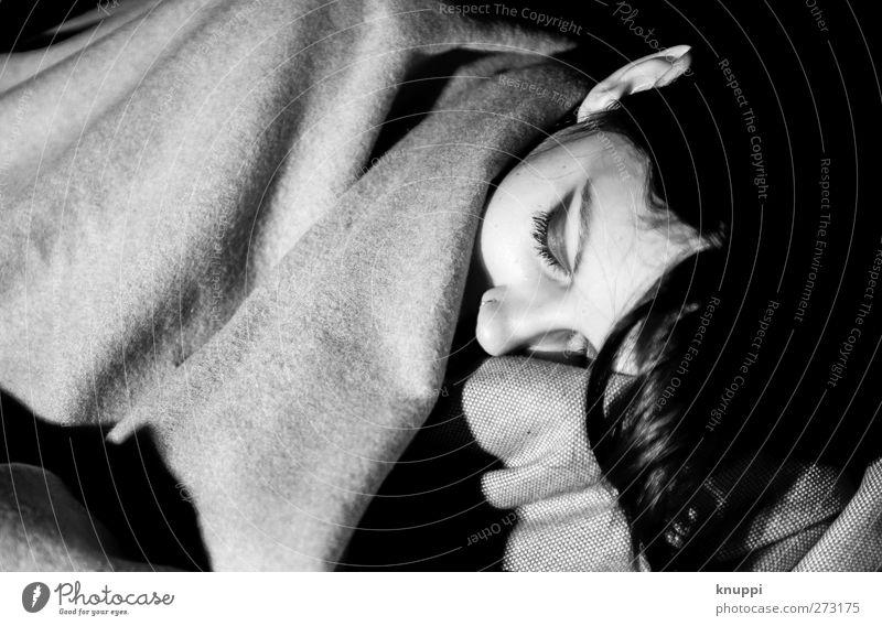 sleep well Mensch Frau Jugendliche schön weiß Erholung Junge Frau schwarz Erwachsene Gesicht Auge Leben feminin Haare & Frisuren grau Kopf