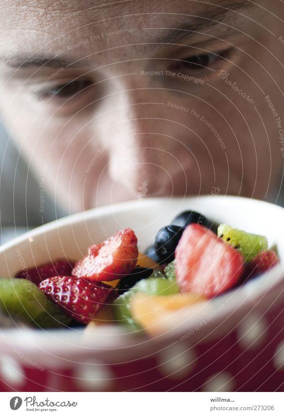 mariechen Frucht Erdbeeren Kiwi Blaubeeren Ernährung Frühstück Schalen & Schüsseln Gesunde Ernährung Mensch Gesicht Nase Auge Augenbraue 1 wählen Duft lecker