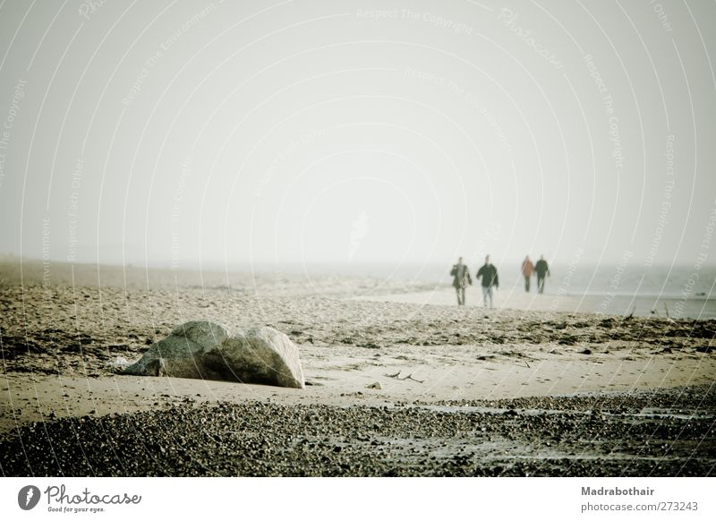 Entspannung am Nordseestrand wandern Strandwandern Mensch Erwachsene Leben 4 Landschaft Sand Wasser Felsen Küste Insel Föhr Erholung Fernweh