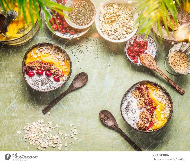 Frühstück Bowls Lebensmittel Frucht Ernährung Bioprodukte Vegetarische Ernährung Diät Geschirr Schalen & Schüsseln Lifestyle Stil Gesundheit Gesunde Ernährung