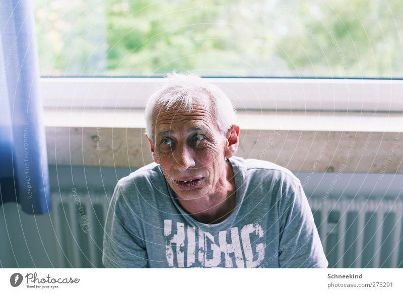 The Story.... Mensch Mann alt Erwachsene Gesicht Auge Leben Senior sprechen Haare & Frisuren Kopf Körper maskulin Mund 60 und älter 45-60 Jahre