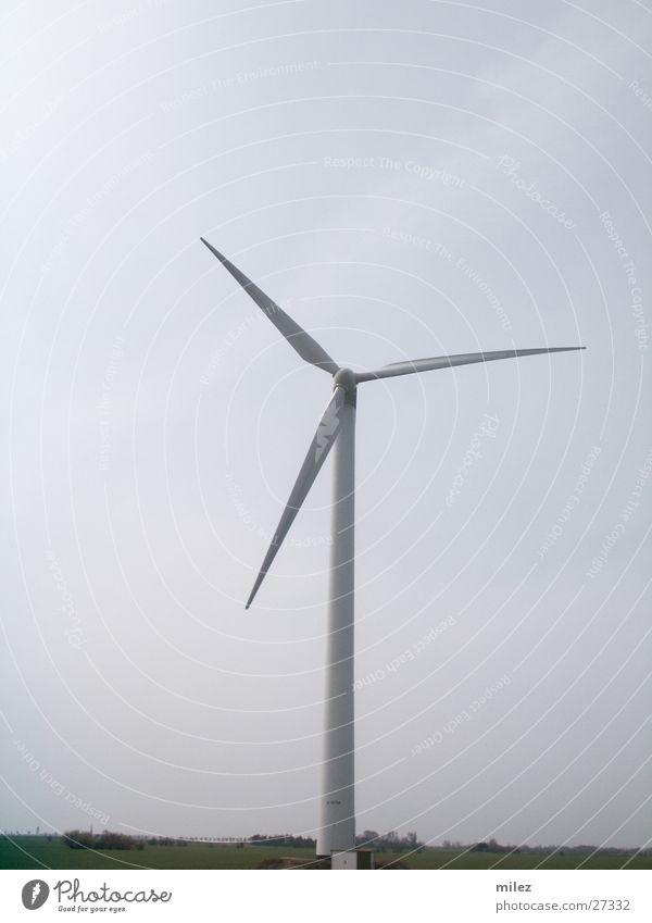 Windmühle hoch Industrie Windkraftanlage drehen