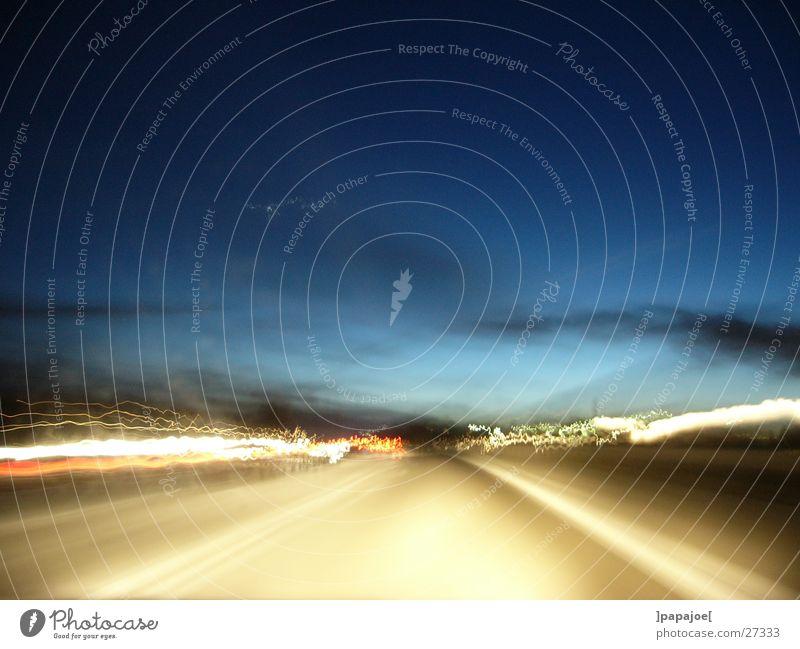 autobahn Verkehr Geschwindigkeit Asphalt Abenddämmerung