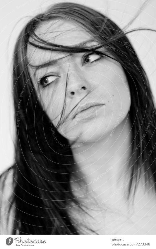 Es ist Juni ! Mensch feminin Junge Frau Jugendliche Leben Haare & Frisuren Gesicht 1 18-30 Jahre Erwachsene Bewegung Blick schön nachdenklich reizvoll