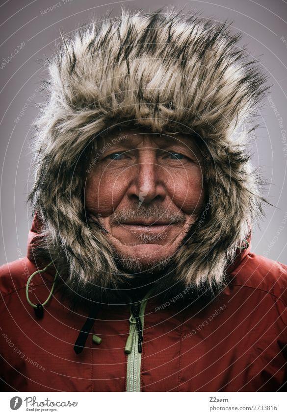 Eskimo Lifestyle Freizeit & Hobby Abenteuer Expedition Berge u. Gebirge wandern maskulin Männlicher Senior Mann 60 und älter Natur Winter Klima Klimawandel