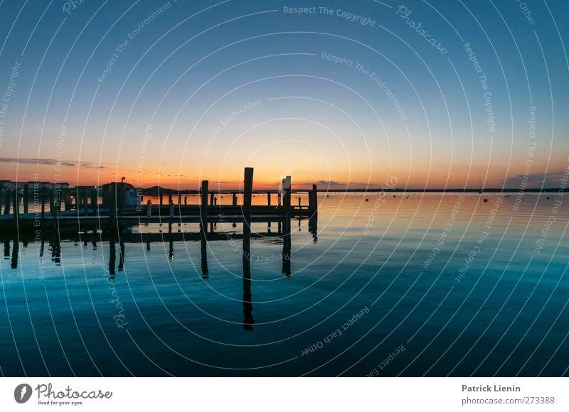 Love is a place Umwelt Natur Landschaft Urelemente Luft Wasser Himmel Wolkenloser Himmel Horizont Sonne Sonnenaufgang Sonnenuntergang Sommer Klima Wetter