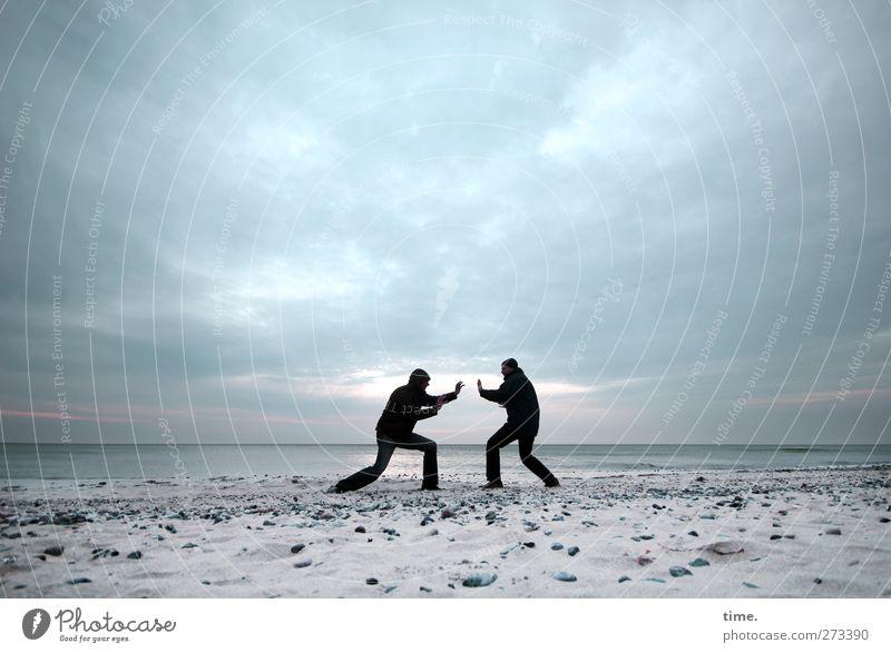 Hiddensee |Fernbedienung Mensch Himmel Mann Wasser Strand Wolken Erwachsene Umwelt Sport Bewegung Küste Horizont Körper Zufriedenheit Kraft maskulin
