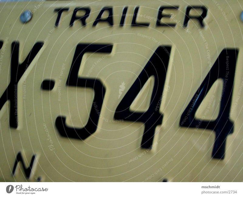 TRAILER 544 Adjektive Nummernschild New York State New York City Lastwagen Verkehr Detailaufnahme