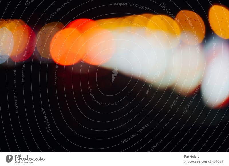 Flareig Kugel Kunst Kreis Licht Unschärfe Lichtkegel Fleck rund dunkel orange gelb rot weiß schwarz Experiment abstrakt außergewöhnlich Farbfoto Muster