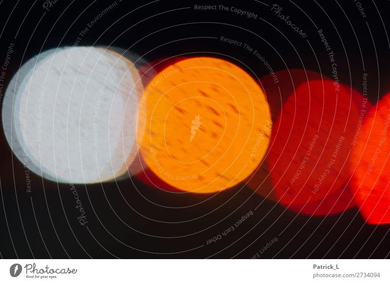 Flares Lichterscheinung orange rot schwarz weiß bizarr Kreis Farbe Farbenspiel Punkt Gegenlicht Kunstlicht Farbfoto mehrfarbig Experiment abstrakt