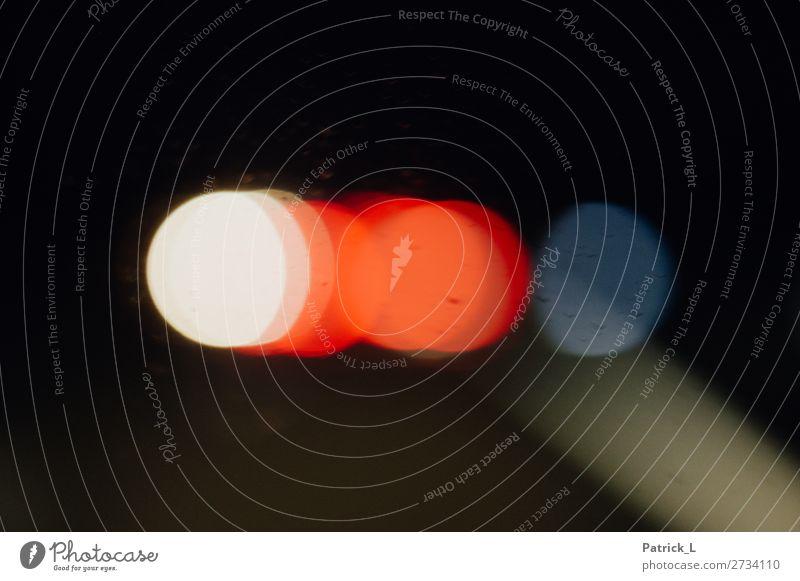 Flare Kreis Kreativität Lichterscheinung Reflexion & Spiegelung blau weiß rot gelb Blendenfleck dunkel außergewöhnlich Farbfoto abstrakt Muster