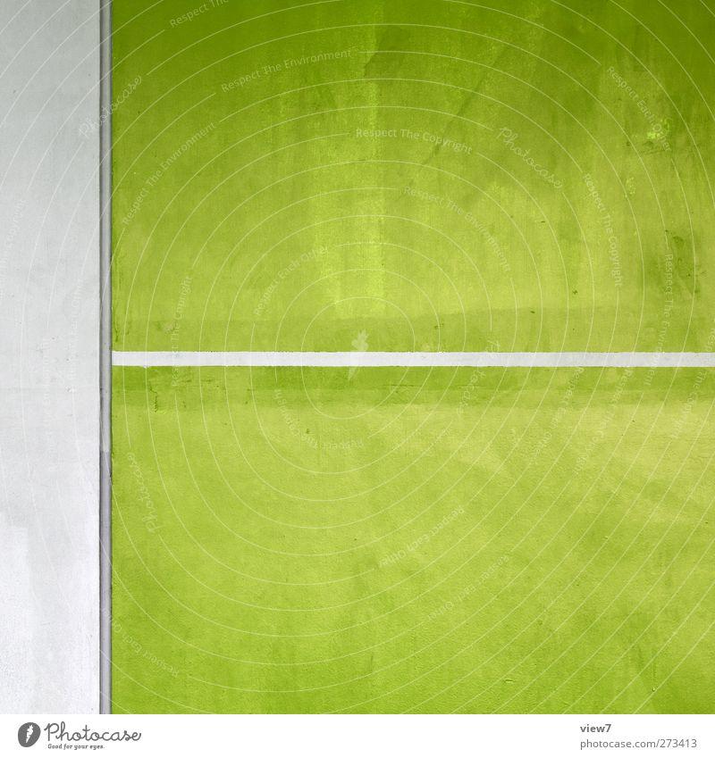 i love green Ferien & Urlaub & Reisen Haus Mauer Wand Stein Beton Linie Streifen alt authentisch dünn einfach frisch modern Originalität positiv Klischee grün