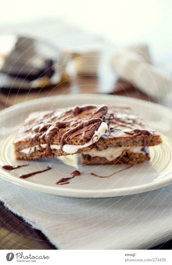 Marshmellow-Kekse Dessert Süßwaren Schokolade marshmellow Ernährung Teller lecker süß Farbfoto Innenaufnahme Nahaufnahme Detailaufnahme Makroaufnahme