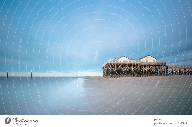 Du bist mein Haus Himmel blau Wasser weiß ruhig Strand Holz braun Abenteuer hoch Schutz Sicherheit Fernweh Vertrauen Nordsee