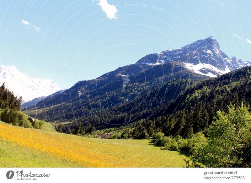 Berge Panorama harmonisch Wohlgefühl Zufriedenheit Erholung Natur Landschaft Wolkenloser Himmel Schönes Wetter Felsen Alpen Berge u. Gebirge Gipfel