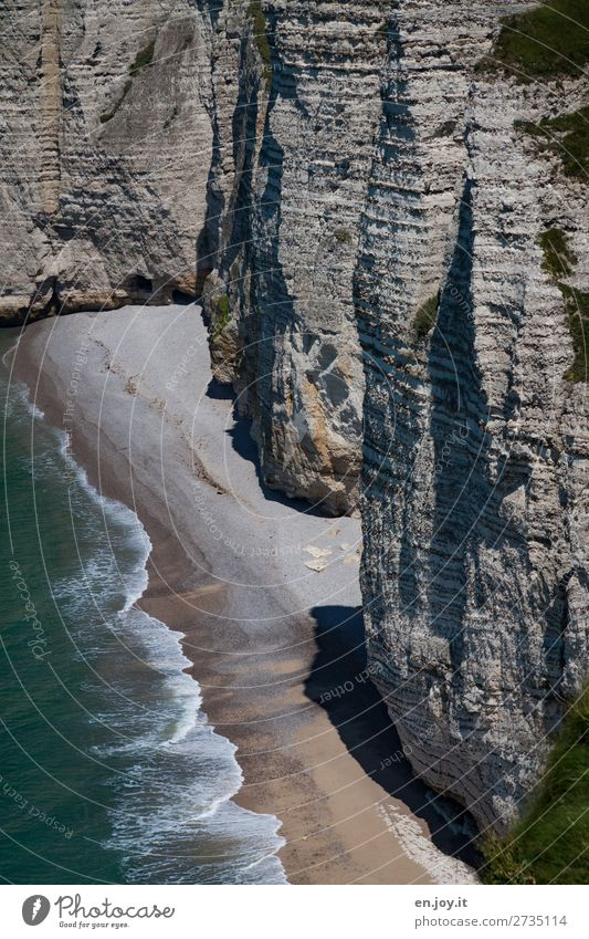 Eingang linke Ecke Ferien & Urlaub & Reisen Ausflug Abenteuer Sommer Sommerurlaub Strand Meer Natur Landschaft Schönes Wetter Felsen Wellen Küste Klippe