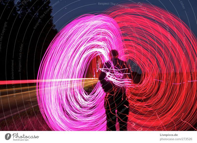 ...nach dem Hollandspiel Mensch Himmel Natur Mann Baum rot Pflanze Erwachsene Landschaft Straße Wege & Pfade PKW Kunst Körper rosa maskulin