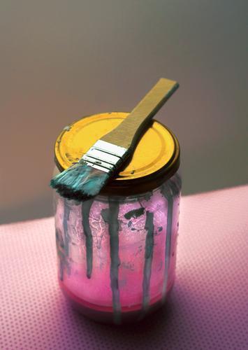 Lasst uns Kunst machen! Farbe rosa Kultur streichen Gemälde zeichnen Kunstwerk Künstler Maler Ausstellung
