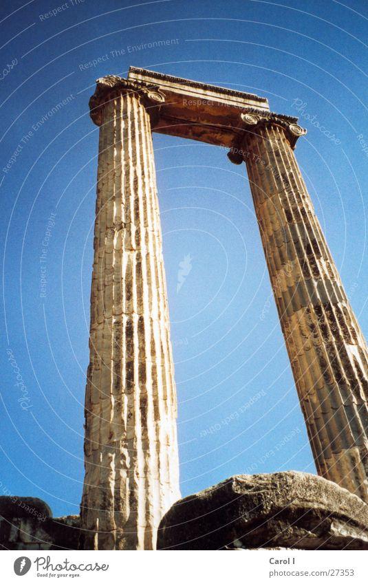 Didima Türkei Römerzeit Ferien & Urlaub & Reisen erinnern Tempel Ruine Kunst groß wuchtig Strebe Dorischer Baustil Säulenkapitell historisch Europa Wahrzeichen