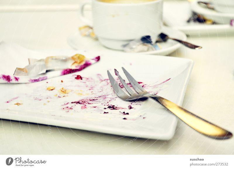gewesener blaubeerkuchen .. mit sahne Feste & Feiern Geburtstag Übergewicht genießen Tasse Reichtum Teller Besteck Gabel Kaffeepause gefräßig